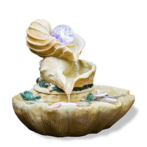 Fuente Agua Fuente de Agua de la caracola Fuente de Agua Que Fluye Feng Feng Shui Fuente de relajación Fuente de la Mesa, decoración para Patio de Patio de Interior/Exterior Jardin Cascada