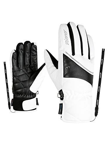 Ziener Damen KAIKA AS Ski-Handschuhe/Wintersport | Wasserdicht, Atmungsaktiv, White, 7