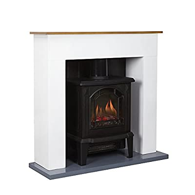 Warmlite WL45037 Compact Stove Fire Suite, 1800 W, Black