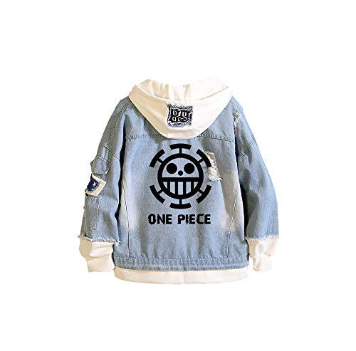 CXWLK ONE Piece Monkey D. Luffy Roronoa Zoro Unisex Sommer Super Leichte Outdoor Sonnenschutz Softshell Jacke Dünne Fahrradjacke,Blue,M