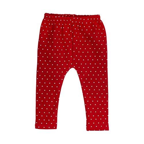 Salt & Pepper Baby-Mädchen Woodland Herzchen-Allover-Print Leggings, Rot (Cherry Red 337), (Herstellergröße: 68)