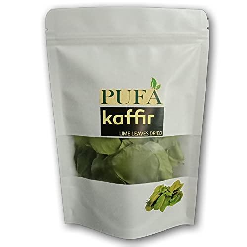PUFA Dried-Kaffir-Lime-Leaves, 0.5 Oz.,Premium Gourmet Ingredient for Tom Yum, Tom Kha Thai & Asian Cuisine,Soups, Stir-fries & Drinks,100% pure, no pesticides or additives.