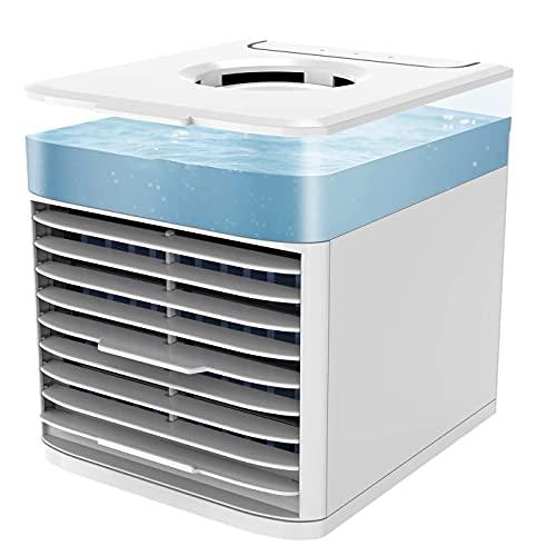 Mini Enfriador Portátil USB Aire Acondicionado Climatizador 4 en 1 Ventilador Purificador Humidificador Aromaterapia 3 Velocidades
