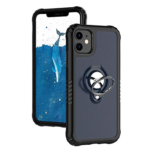 ICONFLANG Phone case for iPhone 11 with Ring Kickstand Shock Absorption Protection case [Compatible Magnetic Car Mount Holder] 6.1 inch (Blue)
