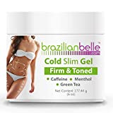 Cellulite Cold Slimming Gel with Caffeine and Green Tea Extract - Reduce Appearance of Cellulite, Stretch Marks, Firming...