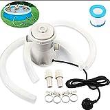 Panthem - Bomba de filtro para piscina, 220 V, bomba de circulación para piscinas de suelo, piscina inflable para niños, soporte para piscina
