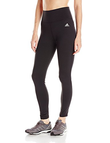 adidas Performance Women's Performer High Rise Long Tights, Black/Silver Logo, XX-Large
