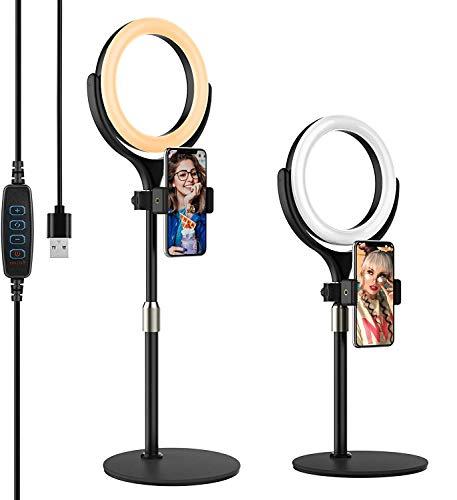 Yoozon Mini Anillo de Luz LED fotográfica de Escritorio, 3 Colores y...