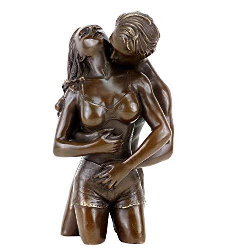 Erotische Bronzefigur - Liebespaar Figur - Die Umarmung von Patoue - Erotik Akt - Höhe: 23 cm - Sexy Figur - Erotische Kunst