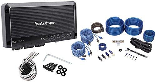 Rockford Fosgate Prime R300X4 R300-4 300W RMS 4-Channel Car Amplifier+Amp Kit