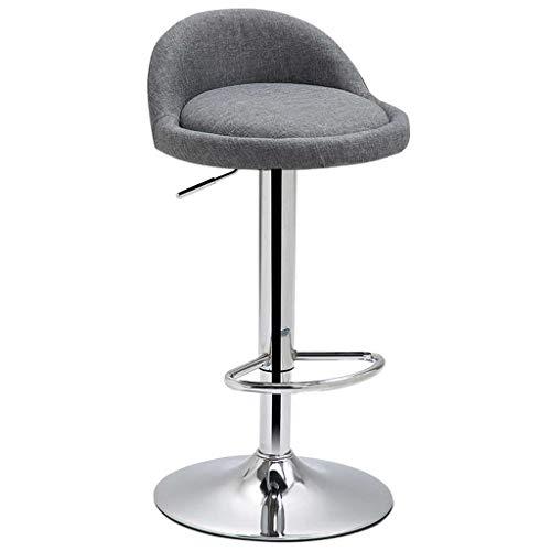 LINGZHIGAN Fauteuil de bar Chaise haute Tabouret Tabouret Arrière Chaise de bar Maison Tabouret de bar moderne Chaise de bar minimaliste Chaise haute (Couleur : Gray)
