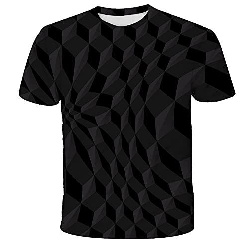 EMPERSTAR Camisetas Hombre Camisetas de Verano Gráfico 3D Impreso Digital Moda Suelta Cuello Redondo Tops de Manga Corta