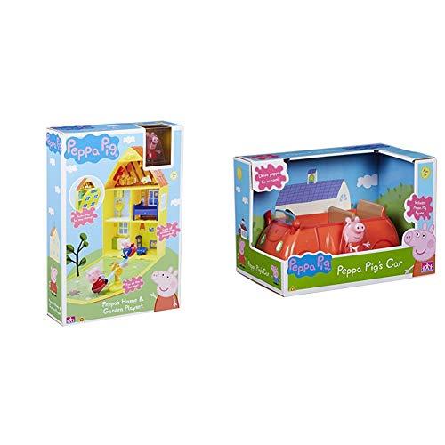 Peppa Pig 06156 Peppa's House & Garden Playset & 06059 Vehicle