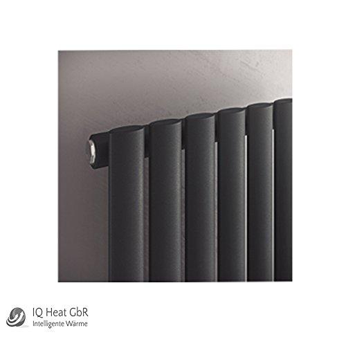 Design Paneelheizkörper einlagig Forte anthrazit - Vertikal Heizwand Heizkörper Badheizkörper (B 1800 mm x B 584 mm)
