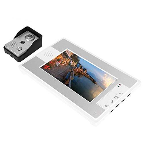 SALUTUYA Timbre de Video con Cable Resistente a la oxidación Visión Nocturna LCD TFT de 7 Pulgadas(European regulations)
