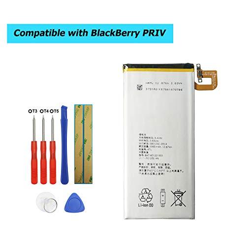 Upplus BAT-60122-003 - Batería de Repuesto para Blackberry PRIV STV-100 RHK211LW Venice (3360 mAh, 3,83 V, con Kit de Herramientas)