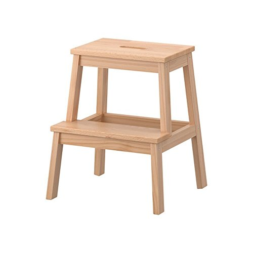 Escalerita, de Ikea, de madera, color beis, modelo Bekvam, referencia 601.788.87