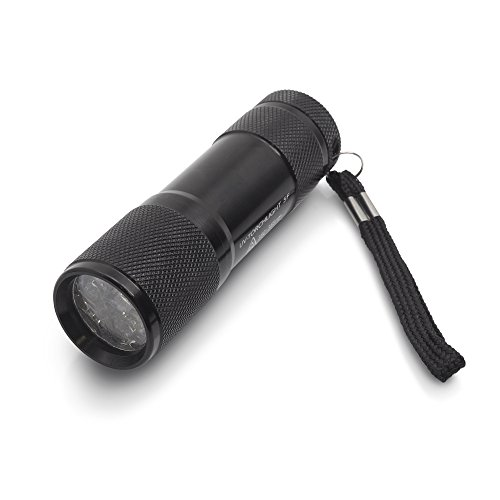 Preisvergleich Produktbild TROTEC UV-Torchlight 5F - Ultraviolett LED UV Taschenlampe mit 9 LEDs 385nm,  UV-Strahler