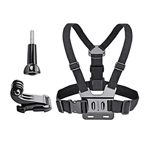 VVHOOY Action Camera Chest Mount Strap Harness Compatible with Gopro Hero 9/8/7/6/5 Session/AKASO EK7000 Brave 4 5 6 Plus/APEMAN/Dragon Touch/COOAU Action Camera Accessories