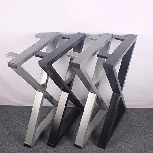 2 X Gambe Per Tavolo Industriali A Forma Di X In Metallo,struttura Per Tavolo In Ferro Battuto,piedi...