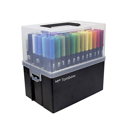 Tombow Dual Brush Pens - Complete Set -108 Colors with Carrying Case