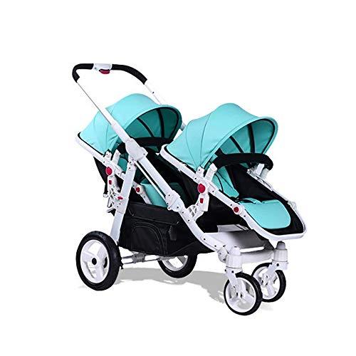 Carrito Bebe Carro Bebe El Carrito para Bebés Gemelos Se Puede Sentar Y Acostar Fold Segundo Niño Doble Trolley para Bebés Sombra Multifunción