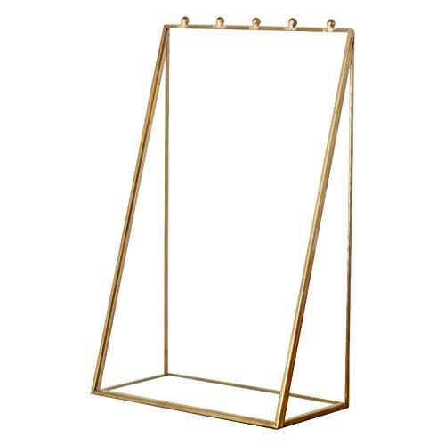 アクセサリーケースアクセサリースタンドガラスと真鍮シリーズディスプレイケースネックレスピアススタンドジュエリーケース収納ゴールド色[並行輸入品]