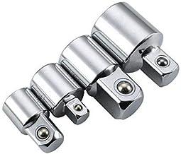4 PCS 1/2-3/8-1/4 Pulgadas Adaptador de Enchufe de impulsión Manguito de Llave convertidor Reductor de trinquete de Alta Resistencia Impacto de Aire Manguito de Artesano Cabeza de Interruptor J