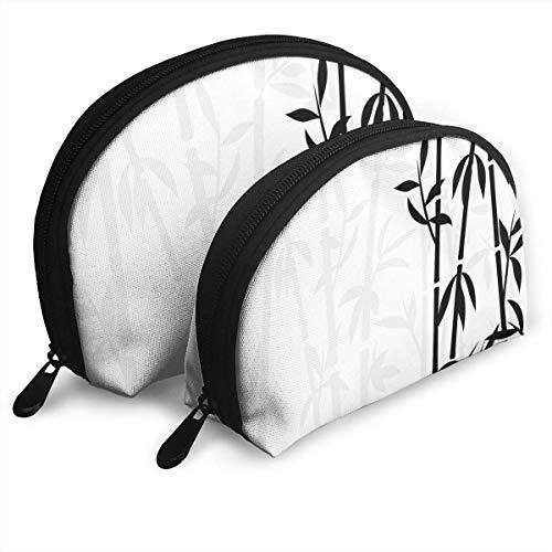 Bambou Japonais Une Plante Voyage Cosmétique De Stockage Assorti Sacs Portables Embrayage Pochette Cadeau 2 Pcs pour Les Femmes