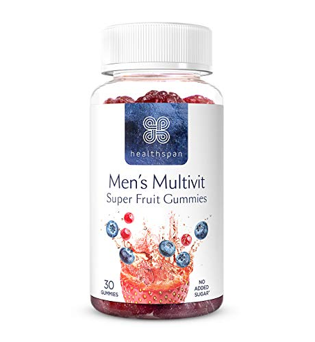 Men's Multivit Super Fruit Gummies | Healthspan | 30 Gummies | Multivitamin | with Vitamin C & Vitamin D3 | Essential Micronutrients | Selenium | Zinc | Boosts Immunity | No Added Sugar