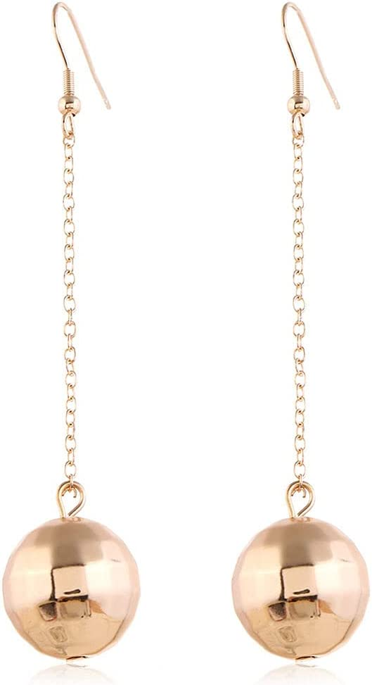 Ball Earrings Jewelry Charming,Golden Silver Mirror Ball Earring