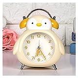 Despertador Personalidad creativa Elefante Metal Reloj despertador Niño Estudiante Campana Reloj de alarma Dormitorio Silencio Mudo Lindo Reloj despertador Radios reloj ( Color : D , Size : 3 inch )