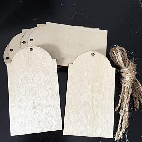 10pcs Etiquetas de madera Tablero de cumpleaños Etiquetas con agujeros for el tablero de cumpleaños Tablero de tareas Bricolaje Artesanía