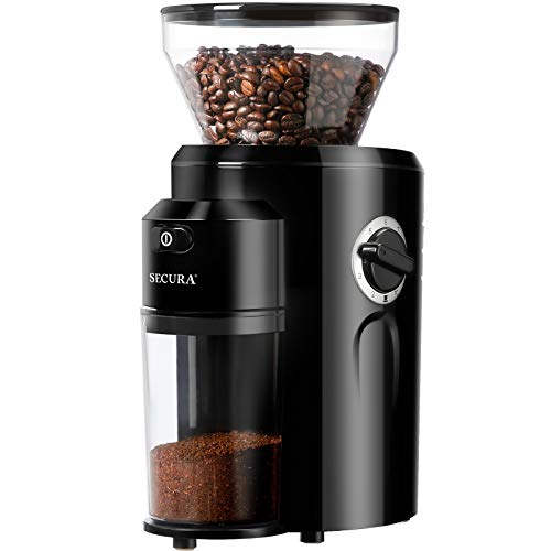home coffee grinders Secura Burr Coffee Grinder, Conical Burr Mill Grinder with 18 Grind Settings from Ultra-fine to Coarse, Electric Coffee Grinder for French Press, Percolator, Drip, American and Turkish Coffee Makers