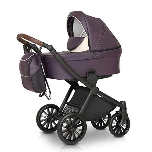 Krausman Kinderwagen 3 in 1 Rider Soft Purple Kombikinderwagen Babyschale Babywanne Sportwagen Design Made In Germany