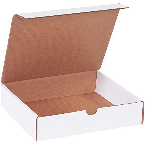BOX USA BML982 Literature Mailers, 9' x 8' x 2', White (Pack of 50)