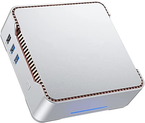 NiPoGi Mini PC,Windows 10 Pro 4GB RAM 64GB ROM Ordenadores de sobremesa, Soporte WiFi de banda dual, Pantallas triples HDMI+VGA duales, Gigabit Ethernet, BT4.2,Micro para negocios, hogar, escuela
