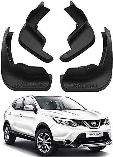 4pcs Coche Faldillas Antibarro para Nissan Qashqai J11 2014-2020, Delantero Trasero Salpicaduras Mud Flaps Resistentes Desgaste Protección Accessories