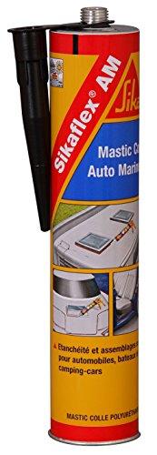 Sikaflex AM Auto-Marine, Mastic-colle carrosserie automobile, camping-car et bateau, 300ml, Noir