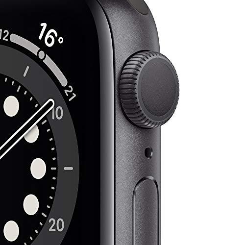 AppleWatch Series6 (GPS, 40mm) Aluminiumgehäuse Space Grau, Sportarmband Schwarz
