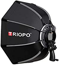 TRIOPO 55cm/21 Octagon Speedlight Softbox Light Modifier with Portable Grip for Studio Equipment Product Photography Lighting