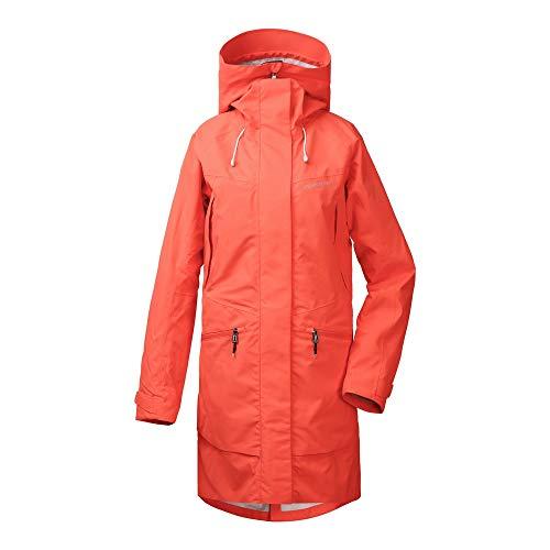 Didriksons W Ilma Parka Rot, Damen Regenjacke, Größe 38 - Farbe Coral Red