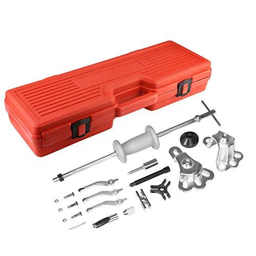 Handor 9-Way Internal/External Slide Hammer Puller Set, for Pulling Hubs, Rear Wheel Axle Shafts, Bearings, Bushings, Seals, Retainers