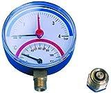 0-6 holyskinz temperatura y manómetro - conexión inferior