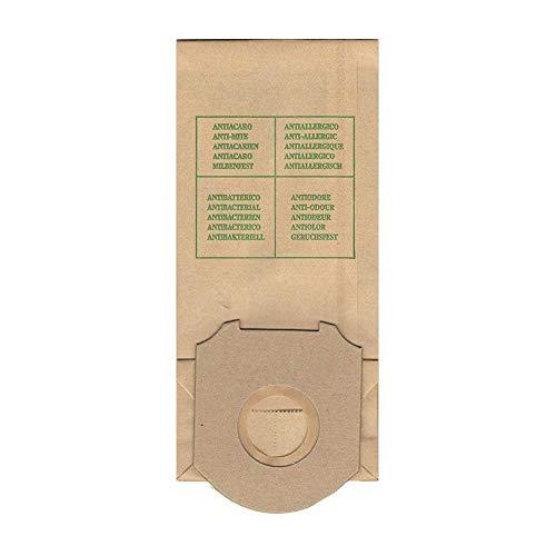 RW6 confezione 10 pezzi sacchetto di ricambio compatibile per aspirapolvere marca rowenta modello: slim line rh 500 rh 501 rh 506 rh 510 rh 511 rh 515 rh 520 1200 w rh 600 610 611 rh 700 e zr 500 zr 680 marca johnson modello: gisowatt,clio,singer