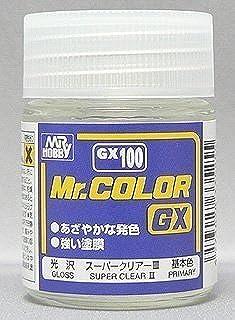 光沢 スーパークリアーⅢ cmGX100// 容量:18ml 優れた光沢感を表現するクリアーを再現しました 高品質な仕上りを実感してもらえる塗料です Mr.ホビー Mr.カラー