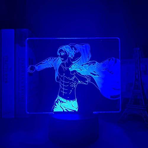 Anime 3d Light Attack on Titan Table Lamp for Bedroom Decor Birthday Gift Manga Attack on Titan LED Night Light Lamp