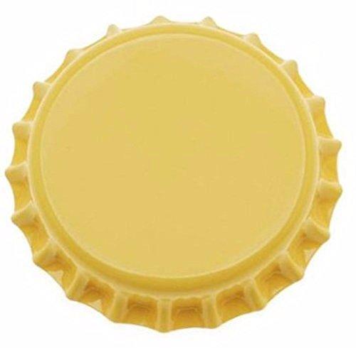 yellow beer bottle caps - 4