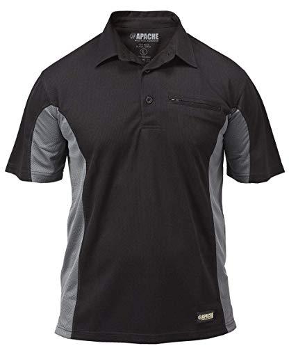 Apache Dry - Polo para hombre, tamaño XXL, color negro