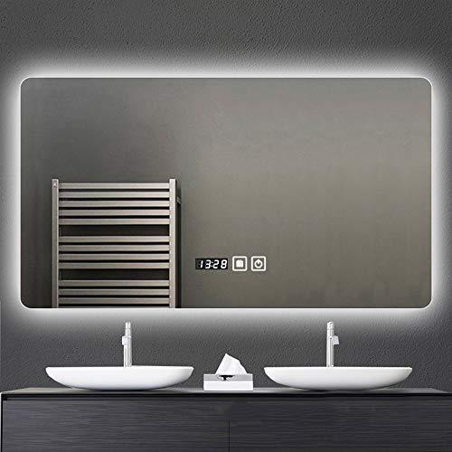 Bathroom mirror cabinet LED Iluminado Espejos de baño,Espejo sin Niebla,Montado en la Pared Rectangular Espejos de baño con Luces por Afeitado Maquillaje cosmético